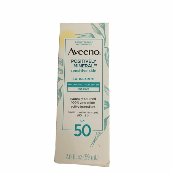 Aveeno Positively Mineral Sunscreen SPF 50. NEW